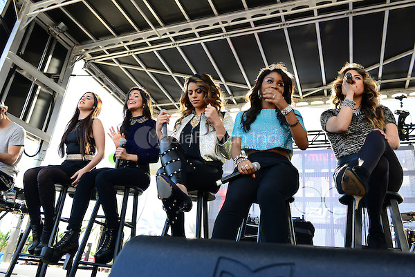 SUNRISE, FL - DECEMBER 20: (L-R) Lauren Jauregui, Camila Cabello, Dinah Jane Hansen, Normani Kordei, Ally Brooke of Fifth Harmony performs at Y100's Pre-Show at the Jingle Ball Village on the plaza at the BB&T Center on December 20, 2013 in Sunrise, Florida. . © MPI10/MediaPunch Inc