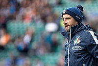 Mike Catt backs coach of Italy during the Guinness Six Nations match between England and Italy at Twickenham Stadium on March 9th, 2019 in London, United Kingdom. Photo by Liam McAvoy.