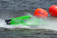 Jason Nelson (#18) takes a shot in the first turn. SST-45 class.Bay City River Roar, Bay City,Michigan USA.26-2821 June, 2009..©F. Peirce Williams 2009 USA.F.Peirce Williams.photography.ref: RAW (.NEF) File Available