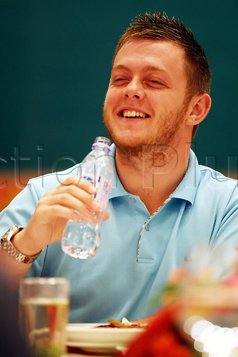 Jun 02, 2010; Wuxi, CHINA; Mark Allen of Northern Ireland at a promotional event of the upcoming 2010 World Snooker Wuxi Classic which will be held from Jun 3 to 6 as the first professional tournament of the 2010/11 snooker season.