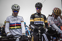 Ellen Van Loy (BEL/Telenet-Fidea) starting next to CX World Champion Thalita de Jong (NED/Lares-Waowdeals) <br /> <br /> elite women's race<br /> GP Sven Nys 2017