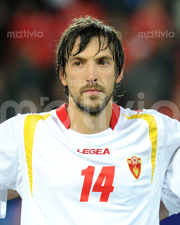 FUSSBALL INTERNATIONAL  EM 2012-Qualifikation  Gruppe G   11.10.2011 Schweiz - Montenegro Dejan DAMJANOVIC (Montenegro)