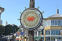Logo, signage, Fisherman's Wharf, San Francisco, California, USA, 201304131258<br /> <br /> Copyright Image from Victor Patterson, 54 Dorchester Park, Belfast, UK, BT9 6RJ<br /> <br /> Tel: +44 28 9066 1296<br /> Mob: +44 7802 353836<br /> Voicemail +44 20 8816 7153<br /> Skype: victorpattersonbelfast<br /> Email: victorpatterson@me.com<br /> Email: victorpatterson@ireland.com (back-up)<br /> <br /> IMPORTANT: If you wish to use this image or any other of my images please go to www.victorpatterson.com and click on the Terms & Conditions. Then contact me by email or phone with the reference number(s) of the image(s) concerned.