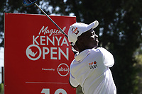 David Wakhu (KEN) during previews ahead of the Magical Kenya Open presented by ABSA, Karen Country Club, Nairobi, Kenya. 13/03/2019<br /> Picture: Golffile | Phil Inglis<br /> <br /> <br /> All photo usage must carry mandatory copyright credit (&copy; Golffile | Phil Inglis)