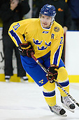 Ludvig Rensfeldt (Sweden - 23) - The Merrimack College Warriors defeated the visiting Sweden Under 20 team 4-1 on Tuesday, November 2, 2010, at Lawler Arena in North Andover, Massachusetts.