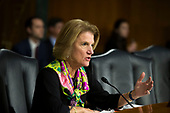 United States Senator Shelley Moore Capito, Republican of West Virginia, asks a question during a hearing entitled 'Protecting Consumers in the Era of Major Data Breaches' before the Senate Commerce, Science, and Transportation Committee on Capitol Hill in Washington, D.C. on November 8th, 2017. Credit: Alex Edelman / CNP