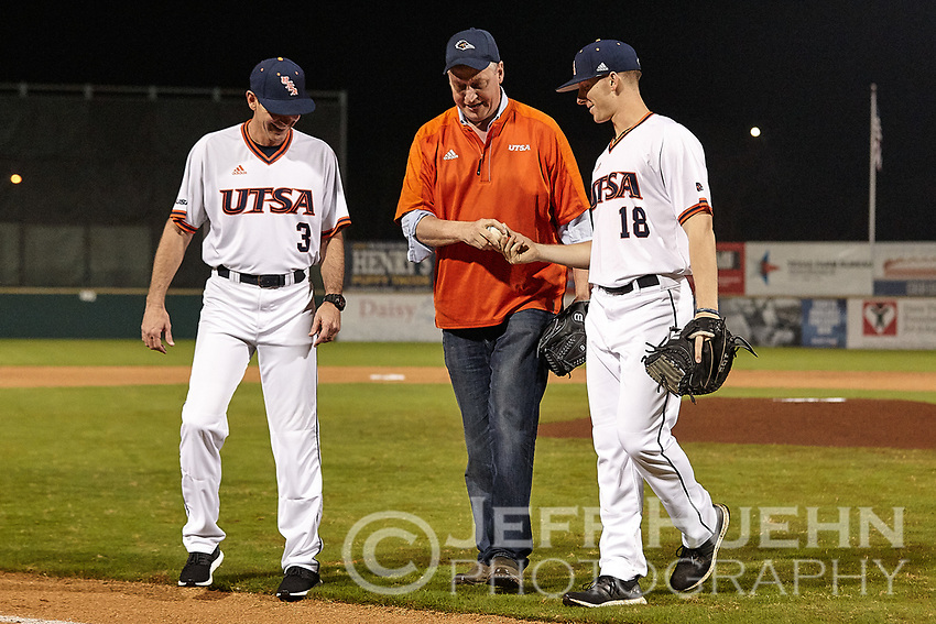 SAN ANTONIO, TX - FEBRUARY 24, 2018: The University of Texas at San Antonio Roadrunners fall to the Texas Tech University Red Raiders 5-0 at Wolff Stadium. (Photo by Jeff Huehn)