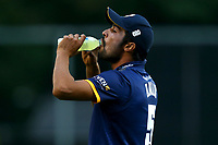 Mohammad Amir of Essex takes a drink during Essex Eagles vs Somerset, NatWest T20 Blast Cricket at The Cloudfm County Ground on 13th July 2017