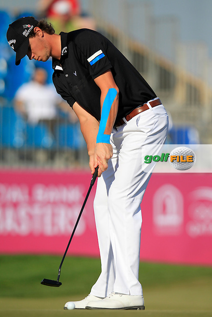 Thomas PIETERS (BEL) takes his putt on the 10th green during Thursday's Round 2 of the 2015 Commercial Bank Qatar Masters held at Doha Golf Club, Doha, Qatar.: Picture Eoin Clarke, www.golffile.ie: 1/22/2015