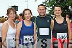 Eileen Sweeney, Christine O'Brien, Padraig Ford and Jackie Murphy Killarney at the Killarney Summerfest 5Km fun run on Saturday evening