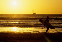 Costa Rica - file Photo -Tamarindo, surfer at dawn