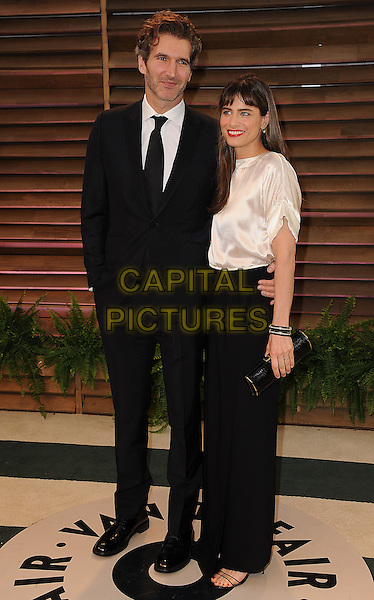 WEST HOLLYWOOD, CA - MARCH 2: David Benioff, Amanda Peet arrives at the 2014 Vanity Fair Oscar Party in West Hollywood, California on March 2, 2014. <br /> CAP/MPI/MPI213<br /> &copy;MPI213 / MediaPunch/Capital Pictures