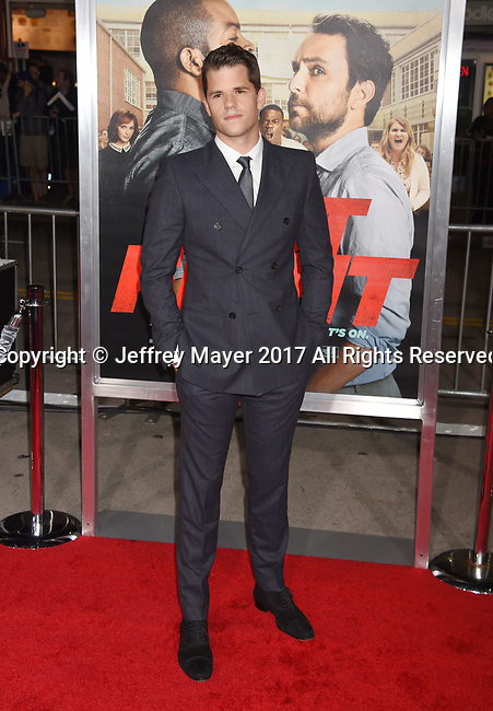 HOLLYWOOD, CA - FEBRUARY 13: Actor Max Carver attends the premiere of Warner Bros. Pictures' 'Fist Fight' at the Regency Village Theatre on February 13, 2017 in Westwood, California.