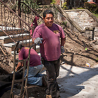 HSUL 20160318 USA, New York, Queens. Childhood home of Donald Trump Republican presidential nomination candidate. Mike Lopez, landscaper. Photographer: David Brabyn