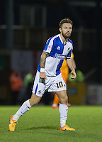 Hat trick scorer Matty Taylor of Bristol Rovers  during the Sky Bet League 2 rearranged match between Bristol Rovers and Wycombe Wanderers at the Memorial Stadium, Bristol, England on 1 December 2015. Photo by Andy Rowland.