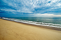 Pristine deserted beach, Long Nook Beach, Cape Cod National Seashore, Truro, Cape Cod, MA, USA