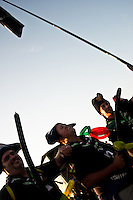 The Cornwall Pirates are enjoying the IST opening cermony. Photo: Fredrik Sahlström/Scouterna