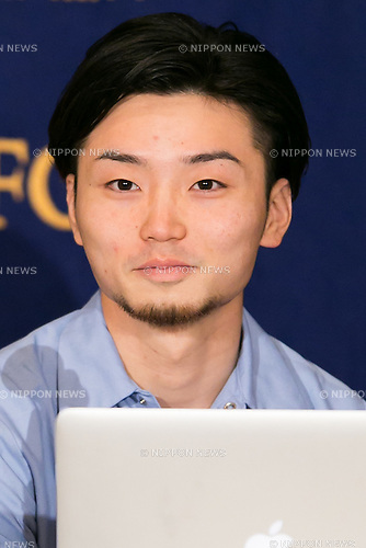 Aki Okuda of SEALDs attends a news conference at the Foreign Correspondents' Club of Japan on June 17, 2016, Tokyo, Japan. The leaders of these groups who oppose Prime Minister Shinzo Abe's security shifts made an alliance with opposition parties and independent candidates ahead of July's House of Councillors elections. They hope to encourage more people to vote especially 18 and 19 year-old citizens who are allowed to vote for the first time this year. (Photo by Rodrigo Reyes Marin/AFLO)