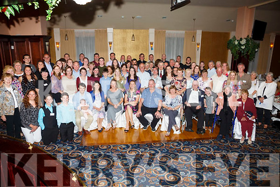 The Fogarty Clan descendents of Patrick & Ellen Fogarty from Cloon, Ballinskelligs at their reunion in the Ring of Kerry Hotel, Cahersiveen on Saturday night with members traveling from the USA, Scotland, England and the four corners of Ireland.