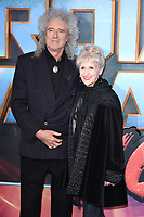 Brian May &amp; Anita Dobson at the European premiere for &quot;Guardians of the Galaxy Vol.2&quot; at the Hammersmith Apollo, London, UK. <br /> 24 April  2017<br /> Picture: Steve Vas/Featureflash/SilverHub 0208 004 5359 sales@silverhubmedia.com