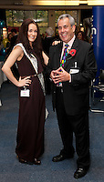 Miss Mansfield & Sherwood Forest, Alicia Caley with show organiser Martin Freeman