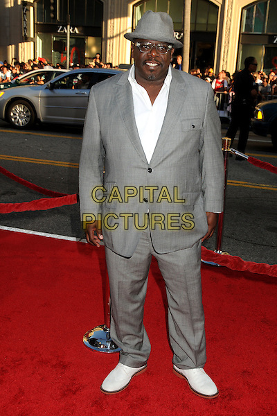 "Cedric The Entertainer (Cedric Antonio Kyles).""Larry Crowne"" Los Angeles Premiere held at Grauman's Chinese Theatre, Hollywood, California, USA..June 27th, 2011.full length shirt suit hat white grey gray glasses .CAP/ADM/BP.©Byron Purvis/AdMedia/Capital Pictures."