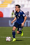 Nagatomo Yuto of Japan runs with the ball during the AFC Asian Cup UAE 2019 Group F match between Japan (JPN) and Turkmenistan (TKM) at Al Nahyan Stadium on 09 January 2019 in Abu Dhabi, United Arab Emirates. Photo by Marcio Rodrigo Machado / Power Sport Images
