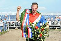 FIERLJEPPEN/POLSTOKVERSPRINGEN: 26-08-2017 Jaarsveld, Nederlands kampioenschap, Senioren Jaco de Groot 21.57 m, ©foto Martin de Jong