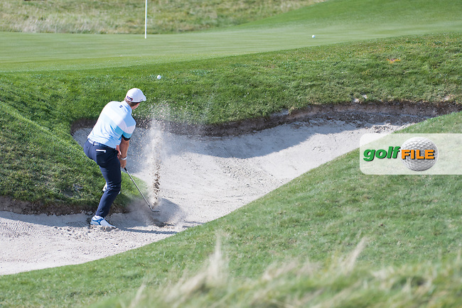 Paul Dunne (IRL) in action on the 8th hole during the 1st round at the KLM Open, The International, Amsterdam, Badhoevedorp, Netherlands. 12/09/19.<br /> Picture Stefano Di Maria / Golffile.ie<br /> <br /> All photo usage must carry mandatory copyright credit (© Golffile | Stefano Di Maria)