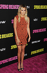 HOLLYWOOD, CA - MARCH 14: Ashley Tisdale attends the 'Spring Breakers' Los Angeles Premiere at ArcLight Hollywood on March 14, 2013 in Hollywood, California.