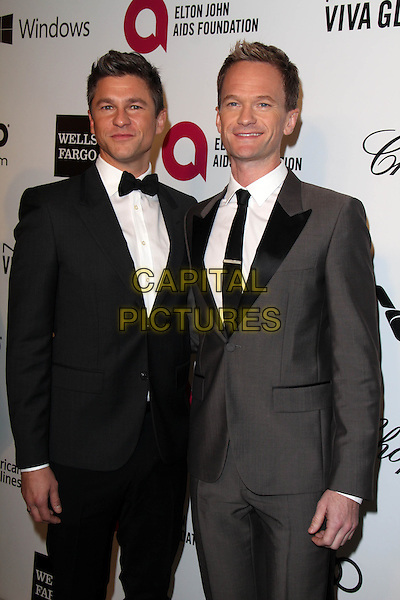 WEST HOLLYWOOD, CA - March 02: David Burtka, Neil Patrck Harris at the 22nd Annual Elton John AIDS Foundation Oscar Viewing Party Arrivals, Private Location, West Hollywood,  March 02, 2014. <br /> CAP/MPI/JO<br /> &copy;JO/MPI/Capital Pictures