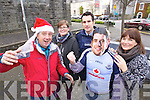 Listowel gets ready for the visit of Dublin Footballer Bernard Brogan on Friday pictured are Billy Keane, Jennifer Stack, Kerry Footballer Tom O'Sullivan, and Kelly Browne,