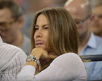 August 30, 2012: Actress Sofia Vergara watches a match with Venus Williams at Arthur Ashe stadium at the USTA Billie Jean King National Tennis Center in New York City. © mpi04 / MediaPunch Inc. NortePhoto.com<br />