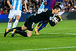 Goalkeeper Andres Tomas Prieto Albert of Malaga CF in action during the La Liga 2017-18 match between FC Barcelona and Malaga CF at Camp Nou on 21 October 2017 in Barcelona, Spain. Photo by Vicens Gimenez / Power Sport Images