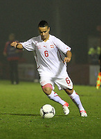 Musa Araz in the Armenia v Switzerland UEFA European Under-19 Championship Qualifying Round match at New Douglas Park, Hamilton on 11.10.12.