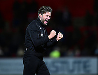 Lincoln City's assistant manager Nicky Cowley applauds the fans at the final whistle<br /> <br /> Photographer Andrew Vaughan/CameraSport<br /> <br /> The EFL Sky Bet League Two - Stevenage v Lincoln City - Saturday 8th December 2018 - The Lamex Stadium - Stevenage<br /> <br /> World Copyright © 2018 CameraSport. All rights reserved. 43 Linden Ave. Countesthorpe. Leicester. England. LE8 5PG - Tel: +44 (0) 116 277 4147 - admin@camerasport.com - www.camerasport.com