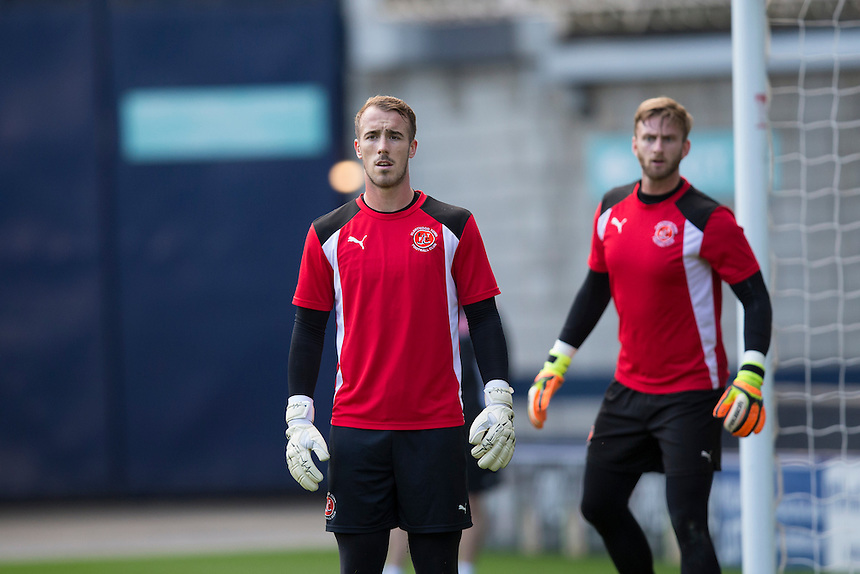 Fleetwood Town's Alex Cairns during the pre-match warm-up <br /> <br /> Photographer Craig Mercer/CameraSport<br /> <br /> The EFL Sky Bet League One - Millwall v Fleetwood Town - Saturday 22nd October 2016 - The Den - London<br /> <br /> World Copyright &copy; 2016 CameraSport. All rights reserved. 43 Linden Ave. Countesthorpe. Leicester. England. LE8 5PG - Tel: +44 (0) 116 277 4147 - admin@camerasport.com - www.camerasport.com