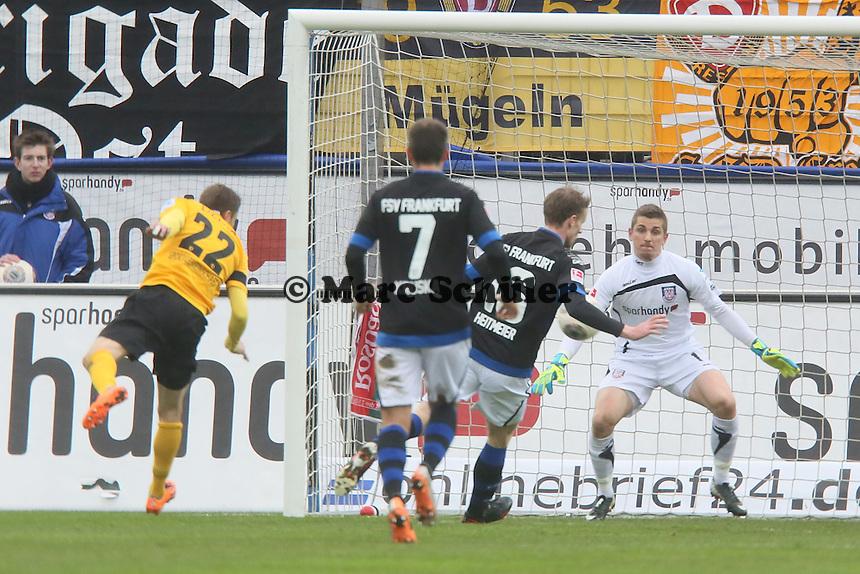 Chance fuer Zlatko Dedic (Dresden) - FSV Frankfurt vs.Dynamo Dresden, Frankfurter Volksbank Stadion
