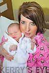 FIRST BABY OF THE NEW YEAR: Baby Leah Rose with mother Eva O'Dowd from Killorglin.