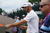 Dustin Johnson (USA) on the practice green during Wednesday's Practice Day of the 2017 PGA Championship held at Quail Hollow Golf Club, Charlotte, North Carolina, USA. 9th August 2017.<br /> Picture: Eoin Clarke | Golffile<br /> <br /> <br /> All photos usage must carry mandatory copyright credit (&copy; Golffile | Eoin Clarke)
