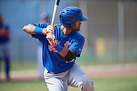 New York Mets Giovanny Alfonzo (1) during a Minor League Spring Training intrasquad game on March 29, 2018 at the First Data Field Complex in St. Lucie, Florida.  (Mike Janes/Four Seam Images)