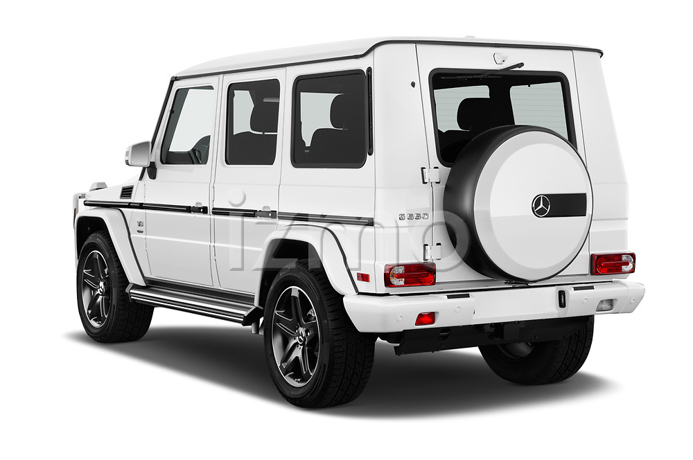 Car pictures of rear three quarter view of a 2018 Mercedes Benz G-Class G550 5 Door SUV angular rear