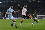 Paulo Dybala of Juventus and Mario Hermoso of Atletico Madrid during the UEFA Champions League match at Juventus Stadium, Turin. Picture date: 26th November 2019. Picture credit should read: Jonathan Moscrop/Sportimage