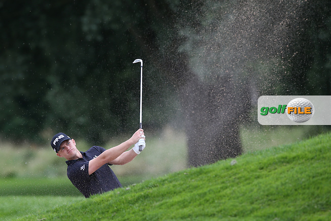 Tom Lewis (ENG) plays from the fairway bunker down the 9th during Round One of the 2015 BMW International Open at Golfclub Munchen Eichenried, Eichenried, Munich, Germany. 25/06/2015. Picture David Lloyd | www.golffile.ie