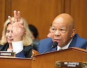 United States Representative Elijah Cummings (Democrat of Maryland), Ranking member, US House Committee on Oversight and Government Reform makes his closing remarks as FBI Director James Comey testifies before the committee following his announcement on Tuesday that he would recommend not to prosecute former US Secretary of State Hillary Clinton for maintaining a private server on Capitol Hill in Washington, DC on Thursday, July 7, 2016.<br /> Credit: Ron Sachs / CNP<br /> (RESTRICTION: NO New York or New Jersey Newspapers or newspapers within a 75 mile radius of New York City)