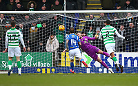 1st March 2020; McDairmid Park, Perth, Perth and Kinross, Scotland; Scottish Premiership Football, St Johnstone versus Celtic; Fraser Forster of Celtic dives to save and clear the ball out of his area