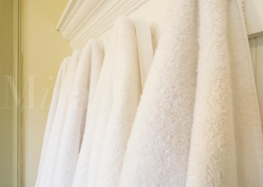 Fresh white towels.