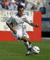 San Jose's Landon Donovan, San Jose vs. New England, Foxboro, Ma, May 3, 2003. San Jose won 2-0.