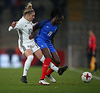 24.11.2017, Football Frauen Laenderspiel, Germany - France, in der SchuecoArena Bielefeld.  Svenja Huth (Germany) - Griedge Mbock Bathy (France)  *** Local Caption *** © pixathlon +++ tel. +49 - (040) - 22 63 02 60 - mail: info@pixathlon.de<br />