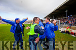 Templenoe mentors celebrate winning the Junior County Final at Fitzgerald Stadium Killarney on Sunday.